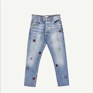 Zara jeans with embellishments